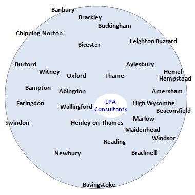 The area covered by LPA Consultants, Lasting Powers of Attorney - includes Abingdon, Amersham, Aylesbury, Banbury, Beaconsfield, Bicester,Brackley, Bracknell, Buckingham, Burford, Chipping Norton, Didcot, Hemel Hempstead, Henley on Thames, High Wycombe, Leighton Buzzard, Maidenhead, Marlow, Newbury, Oxford, Reading, Swindon, Thame,Wallingford, Windsor, Witney and surrounding areas.
